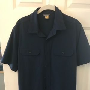 Eddie Bauer Blue Travex Shirt Medium